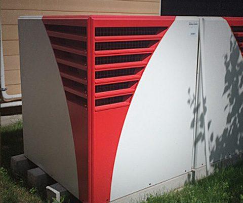 Охлаждение и отопление тепловым насосом воздух-вода Heliotherm, Киевская обл. (610 м²)