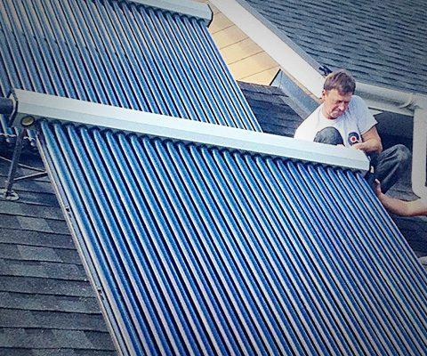 Вакуумные солнечные коллекторы для приготовления горячей воды, Киевская обл. (610 м²)