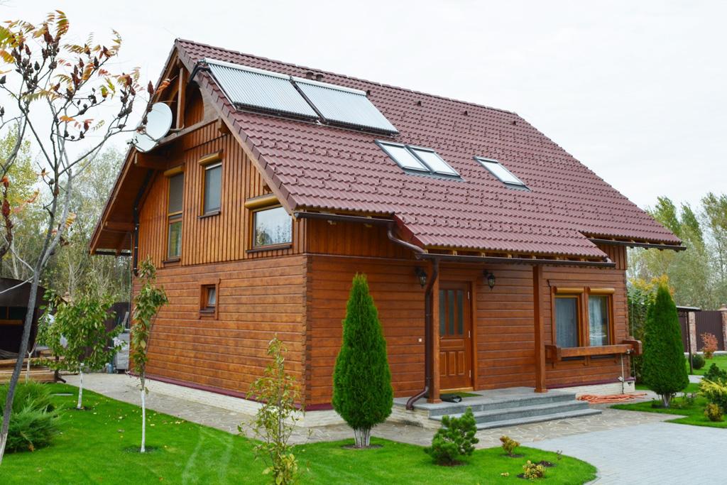 Дом отапливаемый тепловым насосом Грунт-Вода компании Heliotherm