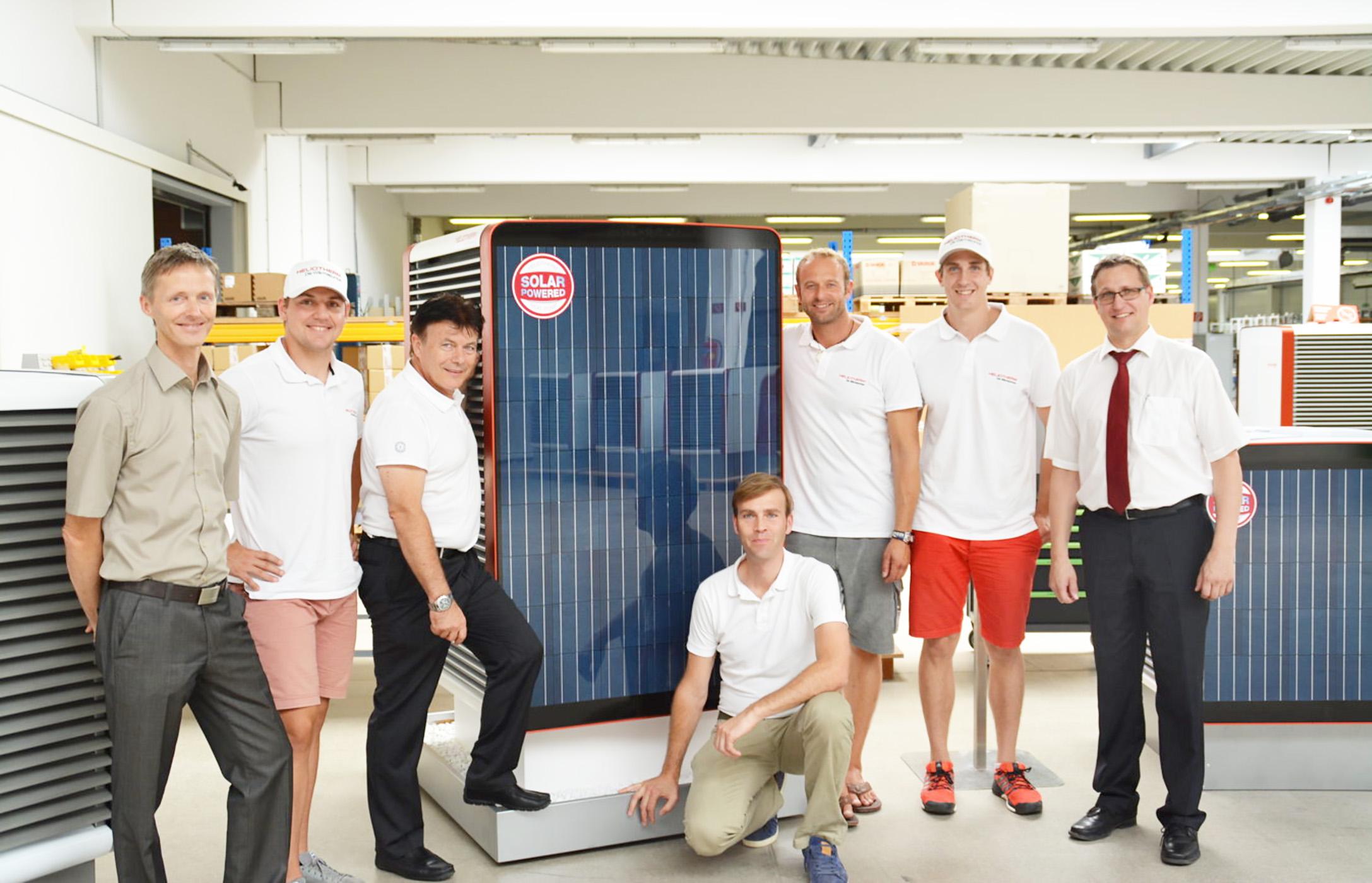 Первый в мире Тепловой Насос Воздух-Вода со встроенными солнечными панелями. Производство Heliotherm (Австрия).