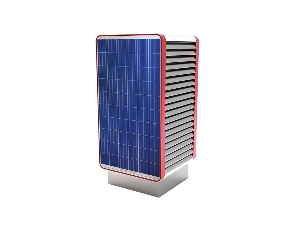 Тепловой насос Воздух Вода со встроенными солнечными панелями.