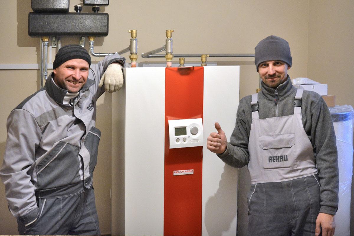 Тепловой насос Грунт-Вода компании Heliotherm для отопления дома 180 кв. м. Киевская обл.