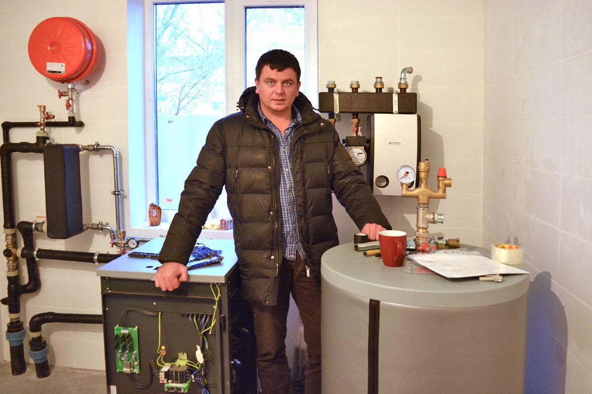 Грунтовый тепловой насос в Киеве для отопления дома 200 кв. м.