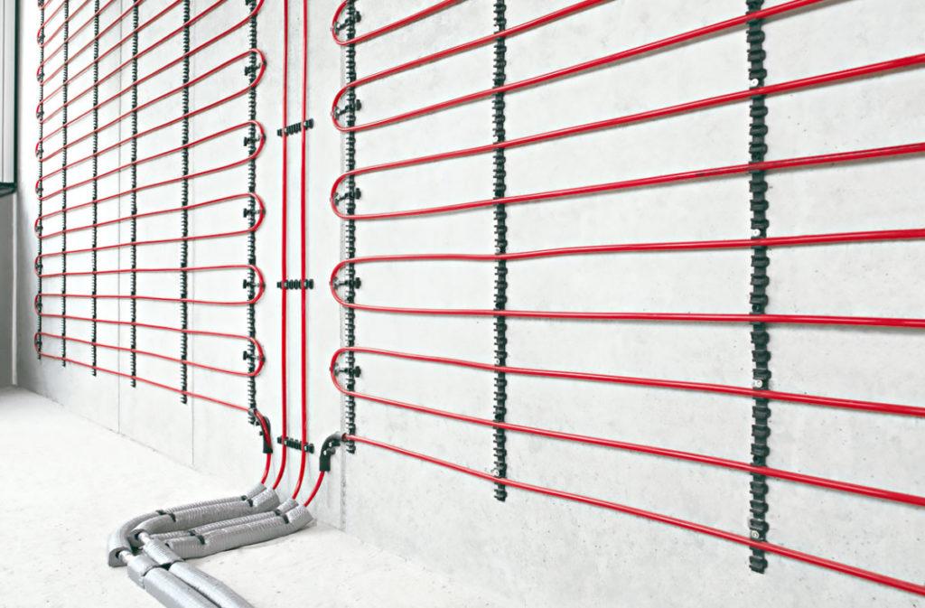 Система тёплых стен для отопления зимой и охлаждения летом.