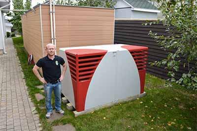 Тепловой насос Воздух-Вода для отопления дома площадью 610 м²
